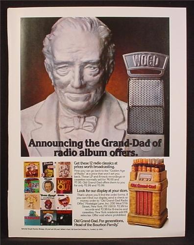 Magazine Ad For Old Grand Dad Whiskey, Radio Classics Albums Offer, Old Radio Display, 1980
