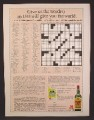 Magazine Ad For J&B Scotch Whiskey, Crossword Contest, Whisky, 1980, 8 1/8 by 10 7/8