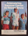 Magazine Ad For Robert Bruce Summer Games Men's Clothing, Short Shorts, 1980
