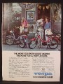 Magazine Ad For Vespa Mopeds, Grabde Models, Moped, Outside A Cheese Shop, 1980