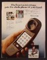 Magazine Ad For Western Electric Brown Trimline Telephone, Slimline, 1980, 8 1/8 by 10 7/8