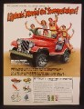 Magazine Ad For Lipton's Movin On Sweepstake Contest, Jeep CJ Laredo, 1980, 8 1/8 by 10 7/8
