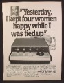 Magazine Ad For Phone-Mate Answering Machine, Kept 4 Women Happy While I Was Tied Up, 1980