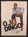 Magazine Ad For Dingo Cowboy Boots, Mutant 3 Legged O J Simpson, 1980, 8 1/8 by 10 7/8