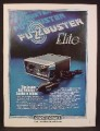 Magazine Ad For Electrolert FuzzBuster Elite Radar Detector, 1980, 8 1/8 by 10 7/8