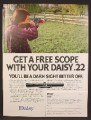 Magazine Ad For Daisy .22 Caliber Air Rifle, Get A free Scope, 1980, 8 1/8 by 10 7/8