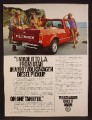 Magazine Ad For VW Volkswagen Pickup Truck, From Utah To L.A. One Tankful, Beach, 1980