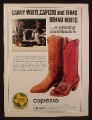 Magazine Ad For Texas Brand Cowboy Boots, Danny White, Capezio, 1981, 8 1/8 by 10 7/8