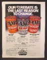 Magazine Ad For Cam2 Motor Oil, 3 Cans, Mileage, Race Proven, 10W40, 1981, 8 1/8 by 10 7/8