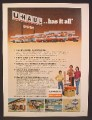 Magazine Ad For U-Haul, Rows Of Trucks, U Haul Has It All, 1981, 8 1/8 by 10 7/8