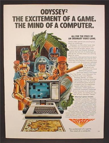 Magazine Ad For Odyssey 2 Computer Game System, Game Characters, 1981, 8 1/8 by 10 7/8