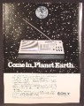 Magazine Ad For Sony Worldband ICF-2001 Radio, FM AM SW SSB/CW, Morse Code, 1981