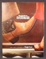 Magazine Ad For Wrangler Cowboy Boots, Good For Being A Little Bad On A Saturday Night, 1982