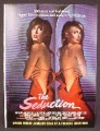 Magazine Ad For The Seduction Movie, Morgan Fairchild, Michael Sarrazin, Colleen Camp, 1982