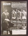 Magazine Ad For Brawn Undergear, Men's Underwear, Beefcake Models, 1982, 8 1/8 by 10 7/8