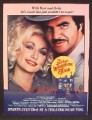 Magazine Ad For The Best Little Whorehouse In Texas Movie, Burt Reynolds, Dolly Parton, 1982