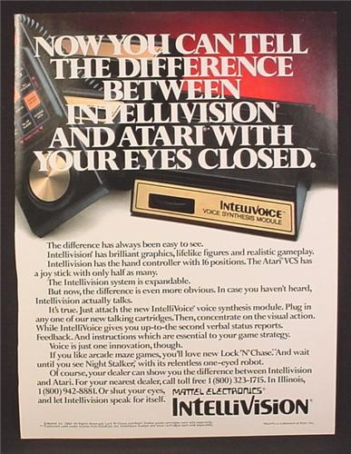 Magazine Ad For Intellivision Game System Voice Synthesis Module Cartridge, 1982