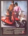 Magazine Ad For Yamaha Riva Scooter, Red & White Models, 1983, 8 1/8 by 10 7/8