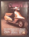 Magazine Ad For Yamaha Riva Scooter, Gold Model, Motorcycle, 1983, 8 1/8 by 10 7/8