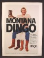 Magazine Ad For Dingo Boots, Joe Montana, 4 Styles, Celebrity Endorsement, 1983