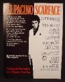 Magazine Ad For Scarface Movie, Al Pacino, Brian De Palma, Oliver Stone, Poster, 1983