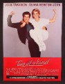 Magazine Ad For Two Of A Kind Movie, John Travolta, Olivia Newton John, Poster, 1984