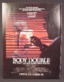 Magazine Ad For Body Double Movie, Melanie Griffith, Brian De Palma, Sexy, Poster, 1984