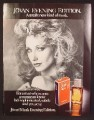 Magazine Ad For Jovan Musk Evening Edition Fragrance, Sexy Morgan Fairchild, Celebrity 1986