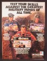 Magazine Ad For Milton Bradley Strategy Games, Shogun, Fortress America, Axis & Allies, 1987