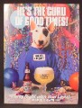 Magazine Ad For Bud Light Beer, Spuds Mackenzie Dog, He's The Guru Of Good Times, Party, 1988