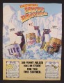 Magazine Ad For Miller Beer, Brews Brothers, Penguins with Surfboards, Lite, Draft, 1989