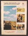 Magazine Ad For Canadian Club Whiskey, Lasso A Rhino, 1973, 8 1/4 by 11 1/8