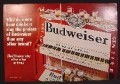 Magazine Ad For Budweiser Beer, Piano Painted In Bud Label Colors, 1970, Double Page Ad