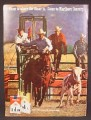 Magazine Ad For Marlboro Cigarettes, Cowboys in Rodeo, Calf Roping, 1970, 8 1/4 by 11 1/8