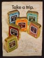 Magazine Ad For Niemeyer Pipe Tobacco in Metal Tins, 6 Flavors, Cans, 1970, 8 1/4 by 11 1/8