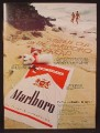 Magazine Ad For Marlboro Cigarettes, Beach Outfit Offer, Towel, Inflatable Pillow, 1970