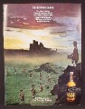 Magazine Ad For 100 Pipers Scotch, Moors, Scots With Bagpipes & Drum, Legend, 1970