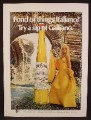 Magazine Ad For Galliano Liqueur, Maya Morin Italian Actress, Celebrity Endorsement, 1970