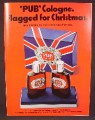 Magazine Ad For Pub Cologne, Fragrance, Union Jack Color Box Set, 1970, 8 1/4 by 11 1/8