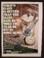 Magazine Ad For Elgin 747 Watch & Romantique Pocket Watch, 1970, 8 1/4 by 11 1/8,
