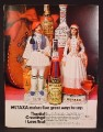 Magazine Ad For Metaxa Ouzo & Liqueurs, Greek Figure Decanters, 1970, 8 1/4 by 11 1/8