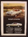 Magazine Ad For Ford Mustang Car, Side & Front Views, It's a Personal Thing, 1971