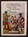 Magazine Ad For Campus Expressions Clothing,, Fashion For Pimps, 1971, 8 1/4 by 11 1/8
