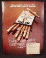 Magazine Ad For Muriel Small Cigar Sample Pack, 7 Different Cigars In One Pack, Tipped, 1971