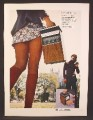 Magazine Ad For Bell & Howell Sound Machine, Hi Fi To Go, Portable, Girl In Very Short Skirt, 1971