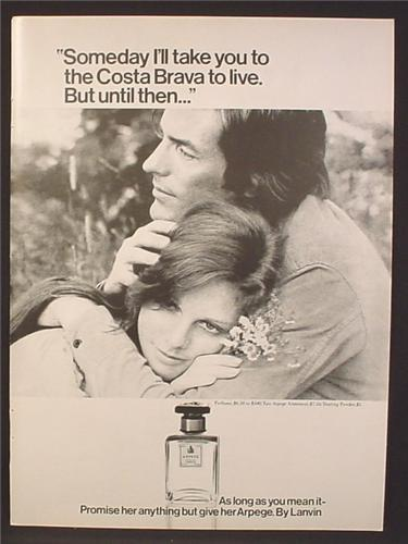Magazine Ad For Arpege Perfume Fragrance by Lanvin, Promise Her Anything, 1971