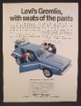 Magazine Ad For AMC Levi Gremlin With Denim Interior, American Motors, 1972, 8 1/4 by 11 1/8
