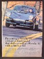 Magazine Ad For Porsche 911 Sportomatic Car, No Clutch Pedal, Front View, 1973, 8 1/4 by 11 1/8