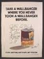Magazine Ad For Club Wallbanger Drink Mix, Pull Tab Can, 1974, 8 1/4 by 11 1/8