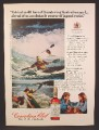 Magazine Ad For Canadian Club Whiskey, Kayaking in The Australian Surf, 1974